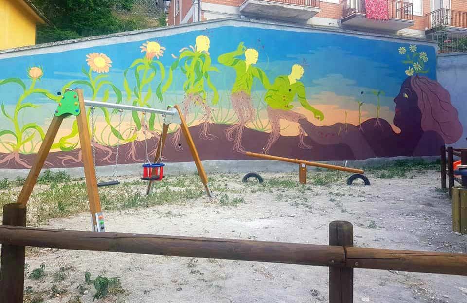 Murale di Alleg a Bisegna
