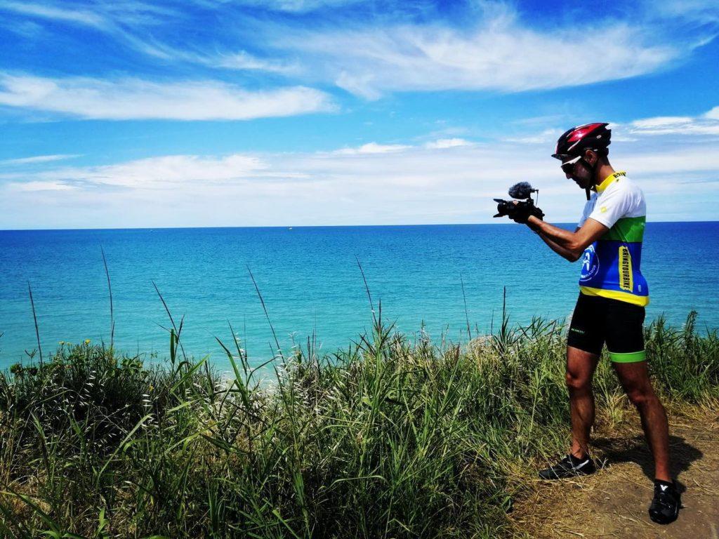 Abruzzo in bici. Loreto Valente a Punta Aderci